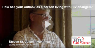 How has your outlook as a person living with HIV changed