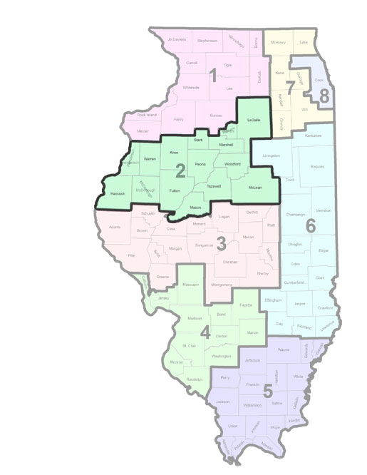Illinois HIV Care Region 1 map